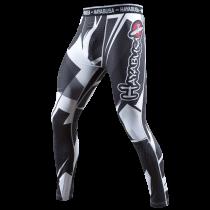 Metaru 47 Silver Compression Pants Black/White
