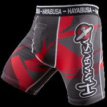 Metaru 47 Silver Compression Shorts - Black/Red