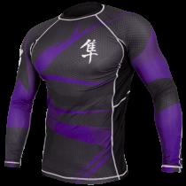 Metaru 47 Silver Rashguard Longsleeve - Purple